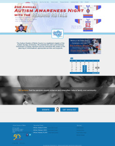 Web Design: Autism Society of Berks County